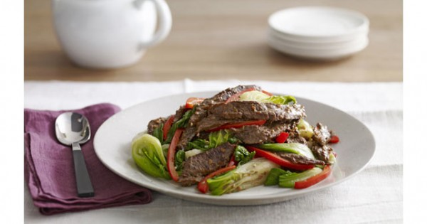 Asian Beef with Baby Bok Choy