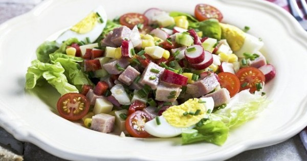 Ham and Egg Garden Salad