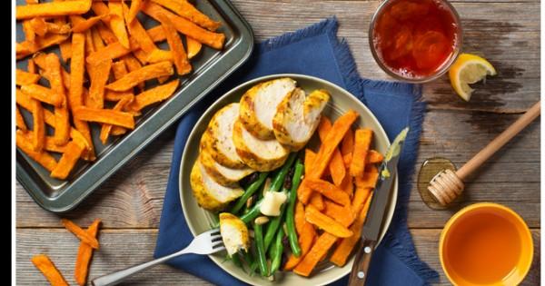 Honey Glazed Chicken & Sweet Potato Fries