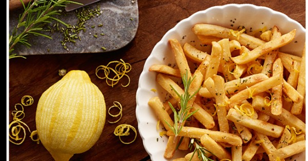 Rosemary Fries With Zested Lemon