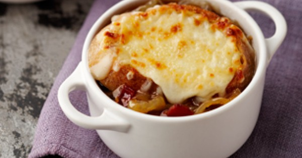 French Onion Soup with Bacon