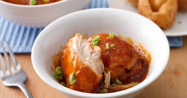 Slow-Cooker BBQ Chicken with Crescent Cream Cheese Wontons
