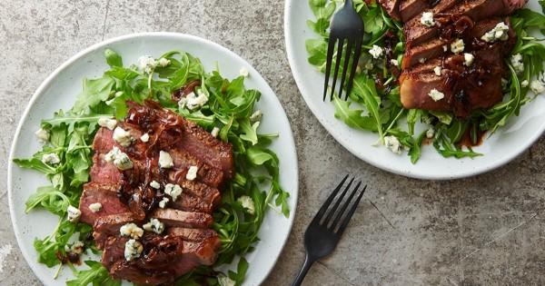 Black and Bleu Steak Skillet for Two