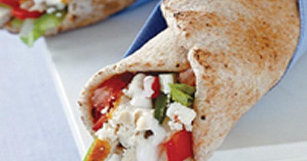 Greek Chicken in a Pita Wrap