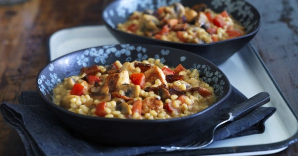Hunter Style Chicken & Barley Risotto