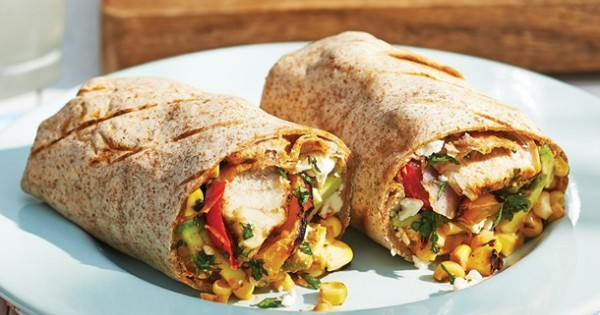 Grilled Chicken and Corn Burrito