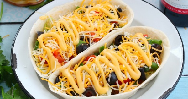 Beef taco boats with beer cheese sauce