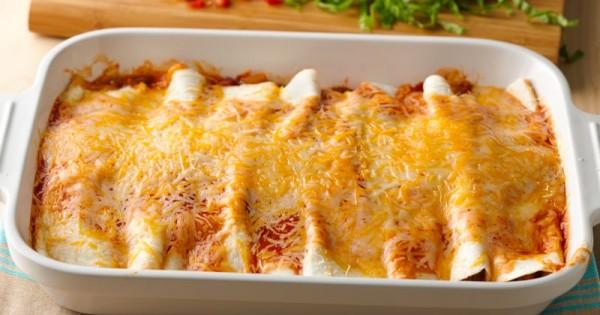 5-Ingredient Beef Enchilada Casserole