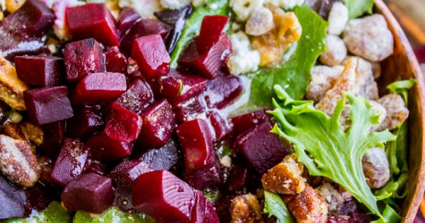 Green Salad with Feta and Beets (The Fanciest No-Chop Salad Ever)