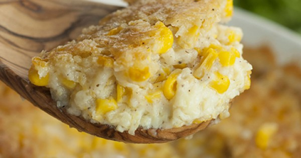 Old-Fashioned Creamed Corn Casserole