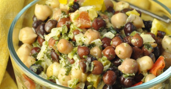 Summer Chickpea Black Bean Salad
