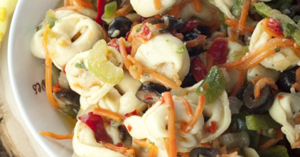 Antipasto Tortellini Salad with Honey Vinaigrette
