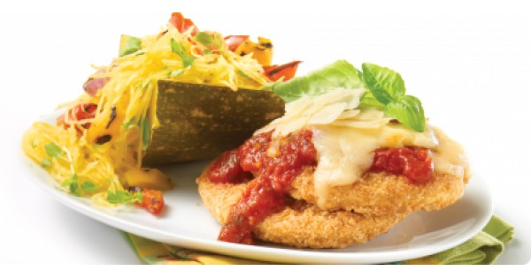 Gluten-Free Crunchy Breaded Chicken Breast Burgers alla Parmigiana