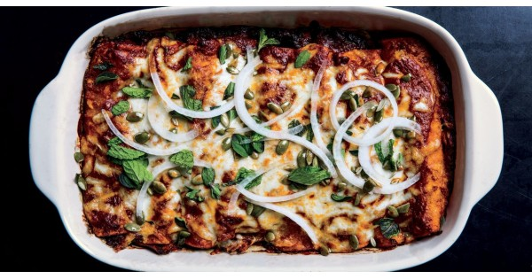 Winter Squash and Short-Rib Enchiladas