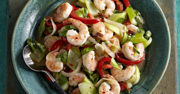 Shrimp & Bok Choy Stir-Fry