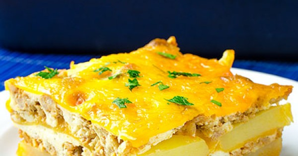 Hamburger Potato Cheese Casserole