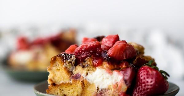 Strawberries 'n' Cream French Toast Casserole
