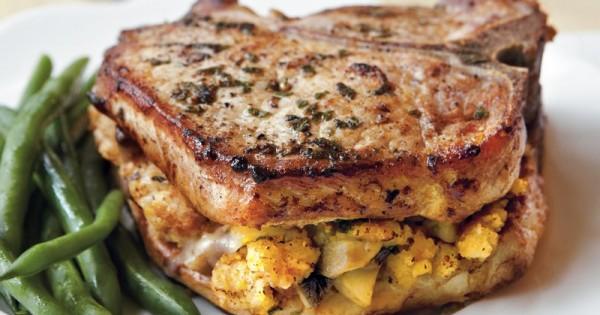 Cornbread-Stuffed Pork Chops