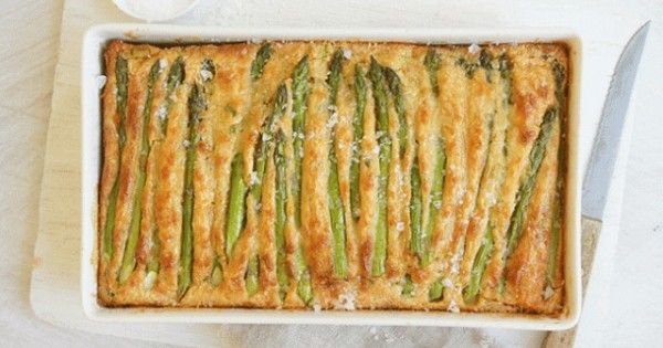 Asparagus and Chicken Quiche