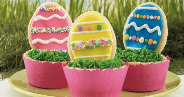Easter Egg Cookie Cups