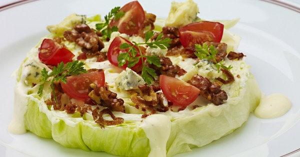 Iceberg Wedge Salad with Blue Cheese