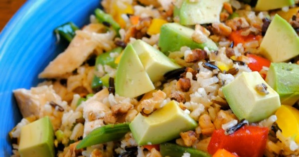 Avocado-Chicken and Rice Bake