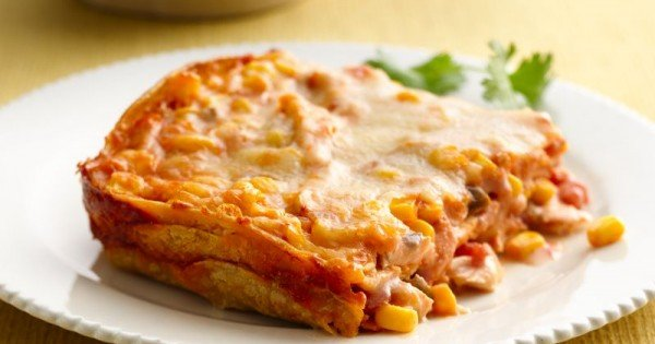 Corn, Chicken and Tortilla Lasagna
