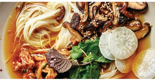 Brothy Noodle Bowl with Mushrooms and Chiles