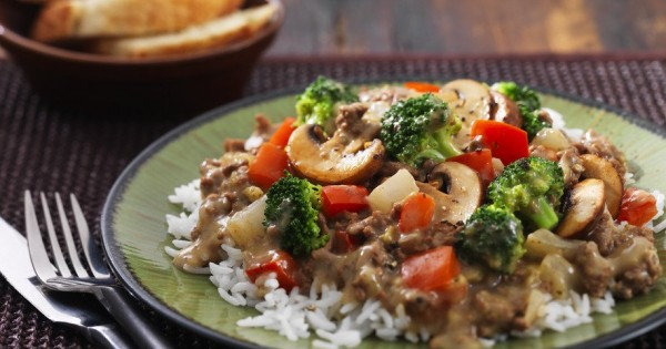 Saucy Beef and Broccoli with Rice