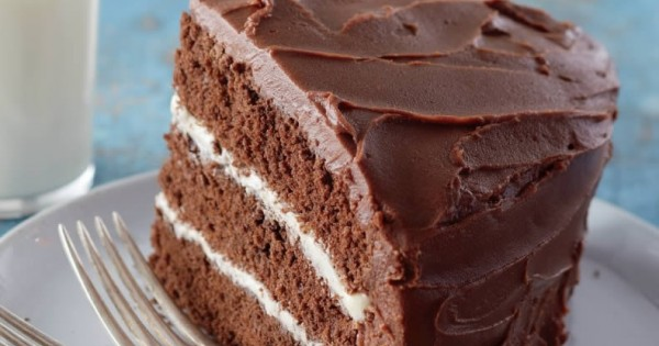 Triple-Layer Chocolate Cake with Vanilla Buttercream