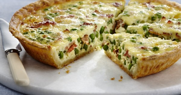 Sweet Pea and Bacon Quiche