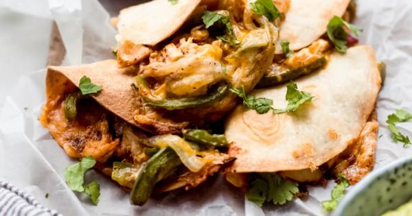 Crispy Baked Chicken Quesadillas