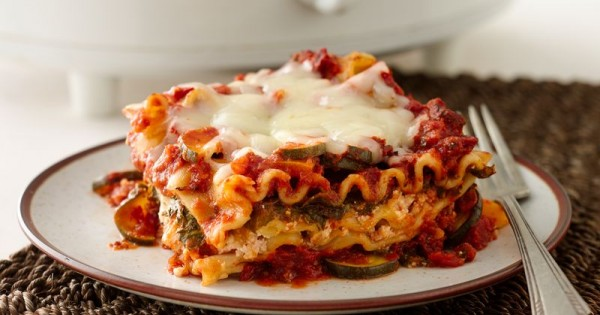 Skinny Slow-Cooker Spinach Lasagna