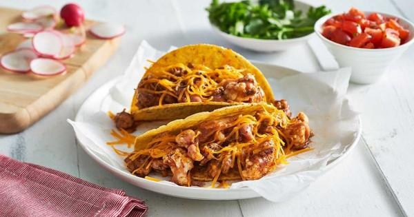 Cheesy Chicken and Cauliflower Tacos