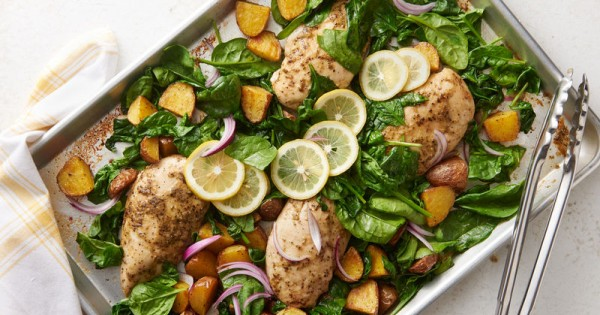 Sheet-Pan Lemon Chicken and Potatoes
