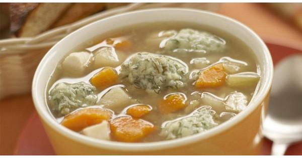 Chicken Soup with Dill Dumplings
