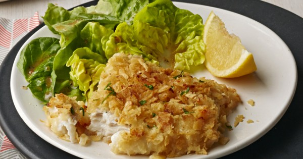 Potato Chip-Encrusted Fish