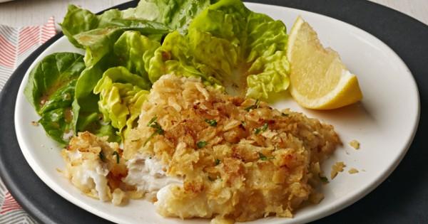 Potato Chip-Encrusted Fish