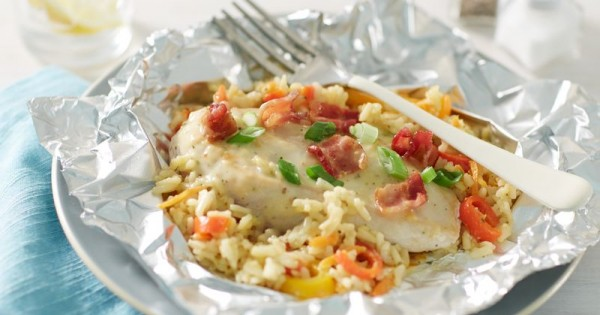 Chicken and Rice Casserole Foil Packs