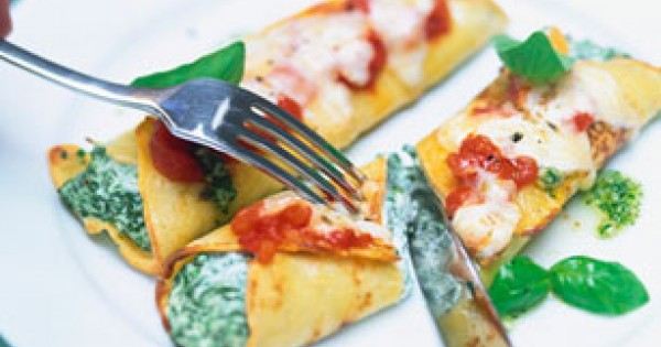 Italian Spinach and Cheese Baked Crepes