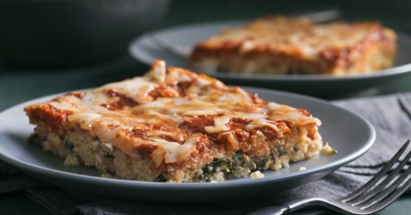 """Spinach and Ricotta Quinoa """"Lasagna"""""""