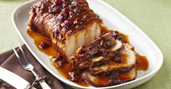 Slow-Cooker Cranberry-Orange Pork Roast