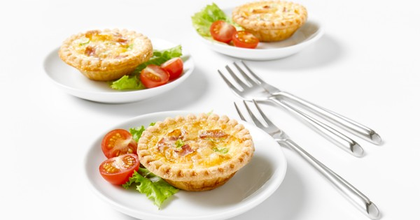 Bacon and Cheese Mini-quiches