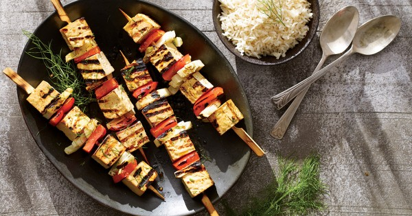 Tofu brochettes
