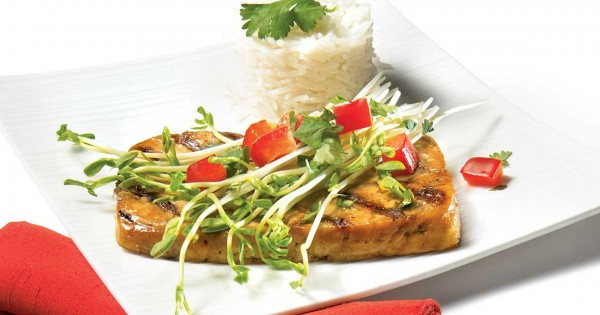 Barbecued Asian-style tofu