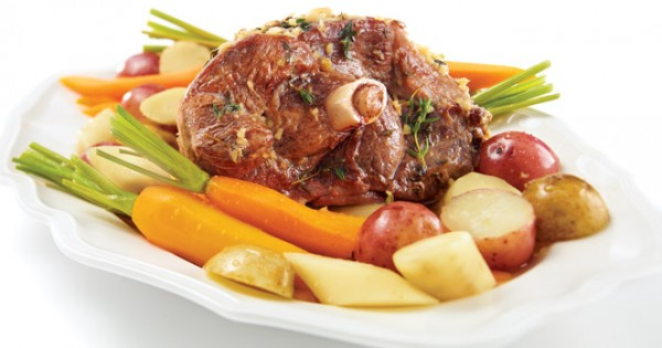 Leg of lamb with thyme and ginger