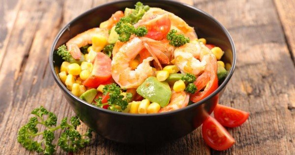 Colourful corn salad