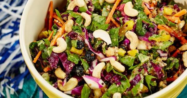 Rainbow Chopped Cashew Salad