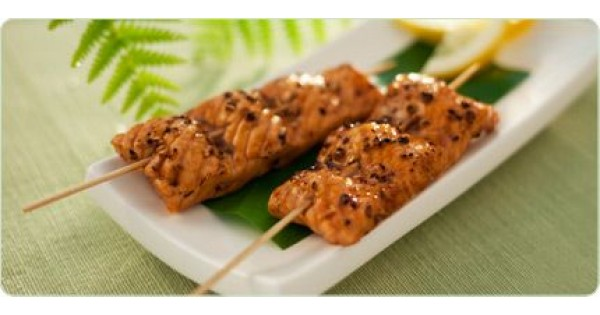 Molasses Salmon with Crushed Coriander