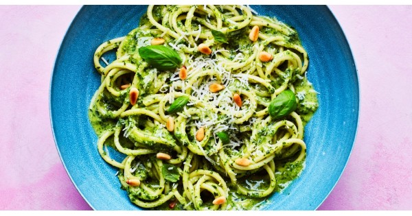 Pasta with 10-Minute Pesto